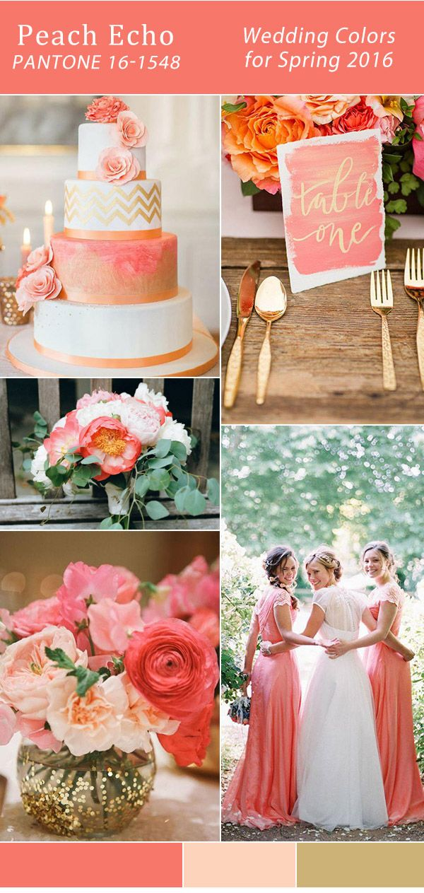 #TrinidadWeddings gold and coral peach echo Pantone wedding color trends 2016