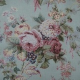 Lovely Laura Ashley Traditional English Country Floral Print Drapery Fabric Soft Colors By The Yard $19.99. SOLD OUT