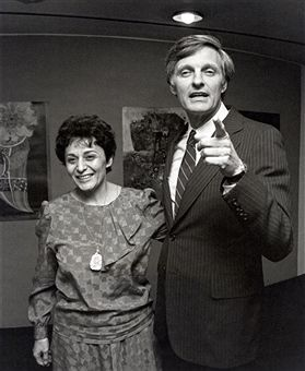 Arlene Alda and Alan Alda during 'The Four Seasons' New York Premiere Press Party at Lincoln Center Library in New York City, New York, United States.