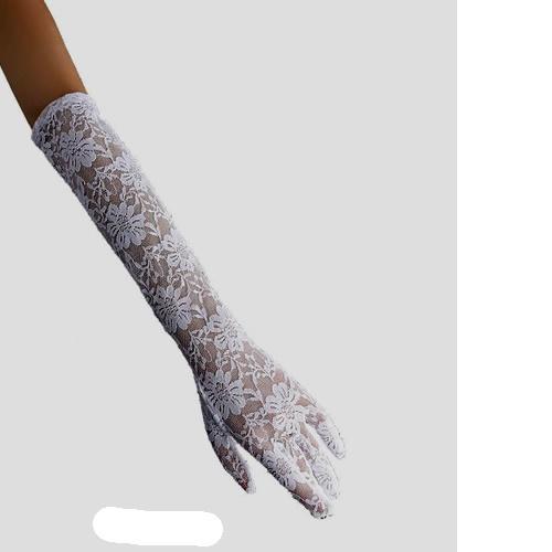 White Lace Elbow Length Wedding Bridal Formal Dress Gloves Women SKU-11201029