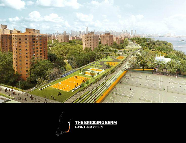 HUD - The Dryline. BIG | Bjarke Ingels Group. Lower Manhattan, EUA. 2014.