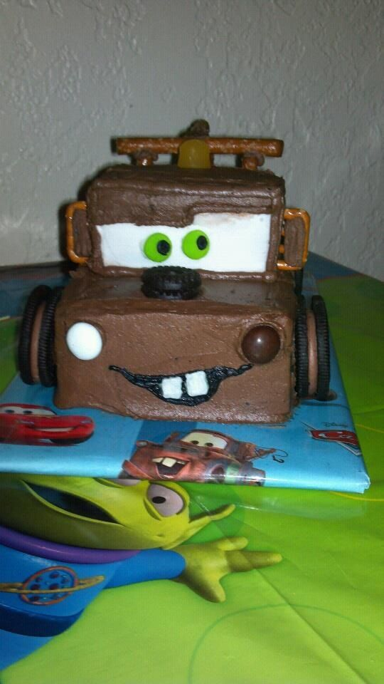 My mom made my son his very own Mater cake for his 3rd birthday! He loved it :)