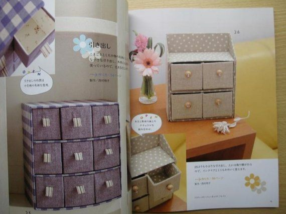 MILK CARTON CUTE Boxes Japanese Craft Book por pomadour24 en Etsy
