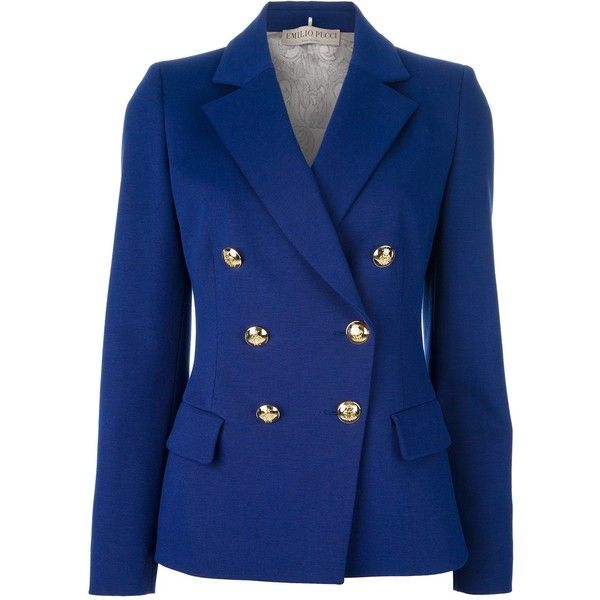 EMILIO PUCCI double breasted blazer ($1,845) ❤ liked on Polyvore