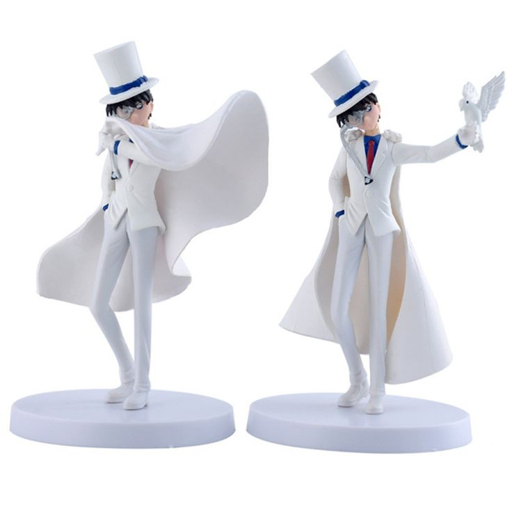 2Pcs White Detective Conan Kaito Kids Action Figure Toys //Price: $15.38 & FREE Shipping //     #actionfigurecollectors