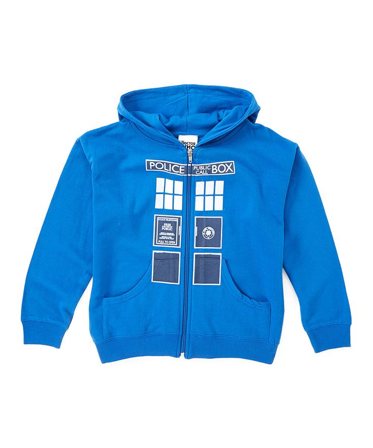 Look what I found on #zulily! Blue 'Police Box' Hoodie - Kids by Doctor Who #zulilyfinds