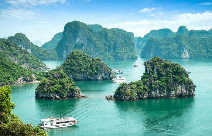 Ha Long-bugten i Vietnam har en nærmest overnaturlig skønhed
