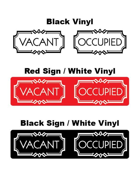 Occupied Vacant Double Sided Bathroom Door Sign Toilet Etsy