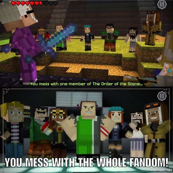 Minecraft Story Mode meme 👌🏻⛏😎