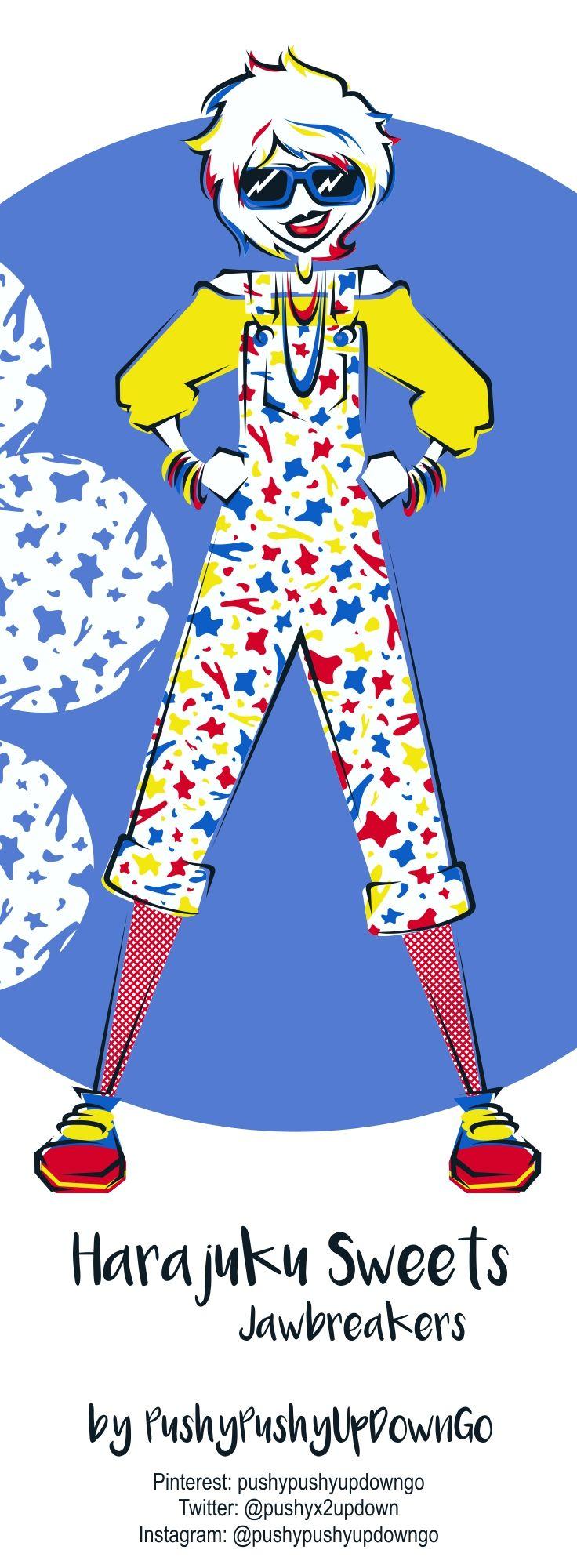 From my Harajuku Sweets kawaii fashion illustration series (available as part of a 10-piece postcard art print set)