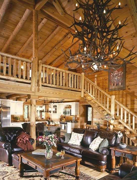 10 best log home christmas and snow images on pinterest Log cabin chandelier