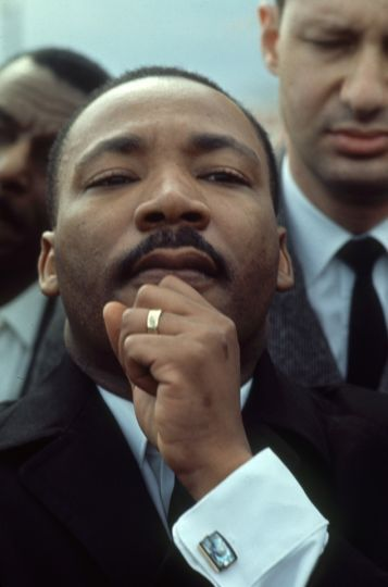 American religious and Civil Rights leader Rev. Martin Luther King, Jr. during one of the Selma to M