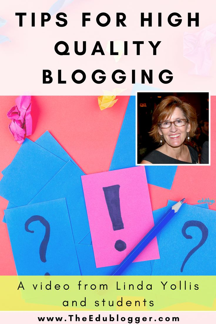 Tips for quality blogging video by Linda Yollis and her third grade students | Edublogs