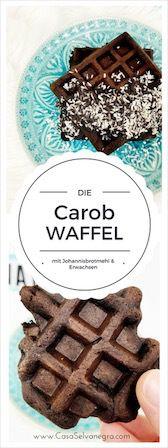 Die ziemlich erwachsene Carob-Waffel mit Johannisbrotmehl