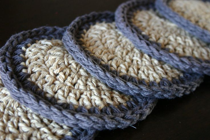 simple crochet coasters
