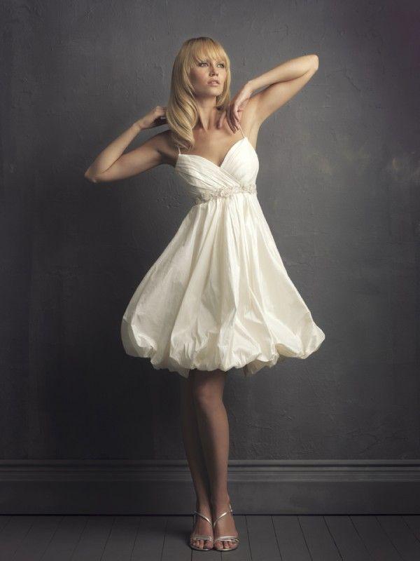 : Ideas, Wedding Dressses, Short Wedding Dresses, Taffeta, Style, Weddings, Shorts Wedding Dresses, Shorts Dresses, Spaghetti Straps