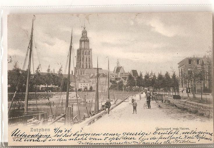 Vischpoort met Haven Zutphen, 5 okt. 1904