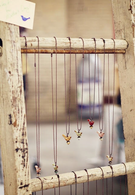 Craftstravaganza - I like the earrings and the ladder as the display.