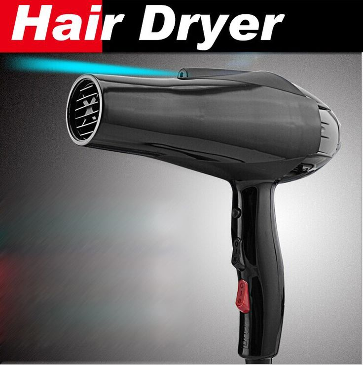 styling tools hair dryer black professional blow dryer hot and cold wind 2300w nano titanium 2.4M + 2 free nozzles hairdryer