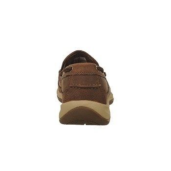 Rockport Works Men's Sailing Club Steel Toe Slip On Boat Work Shoes (Brown)