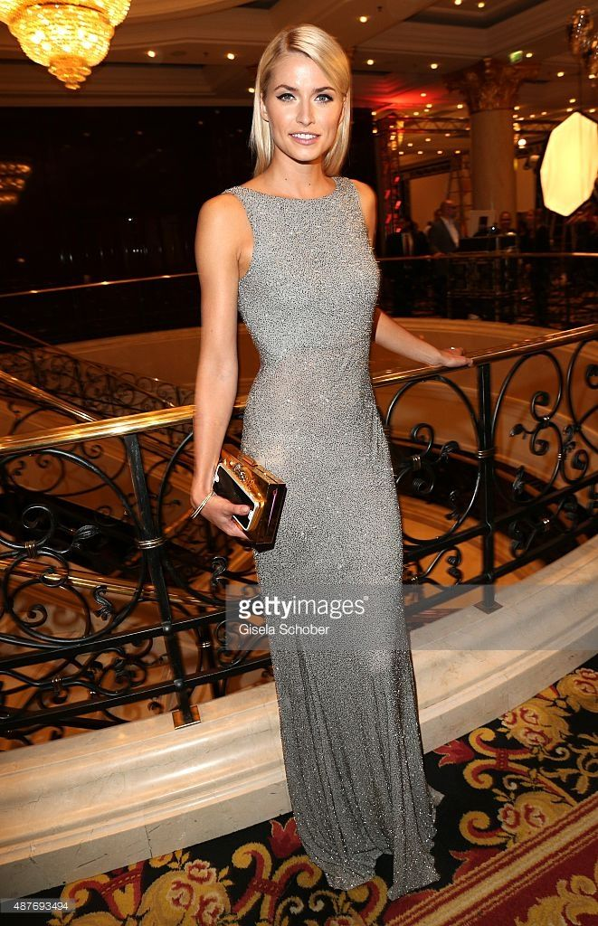 Lena Gercke during the 10th anniversary of 'Dreamball' ( Look Good Feel Better ) at Ritz Carlton on September 10, 2015 in Berlin, Germany.