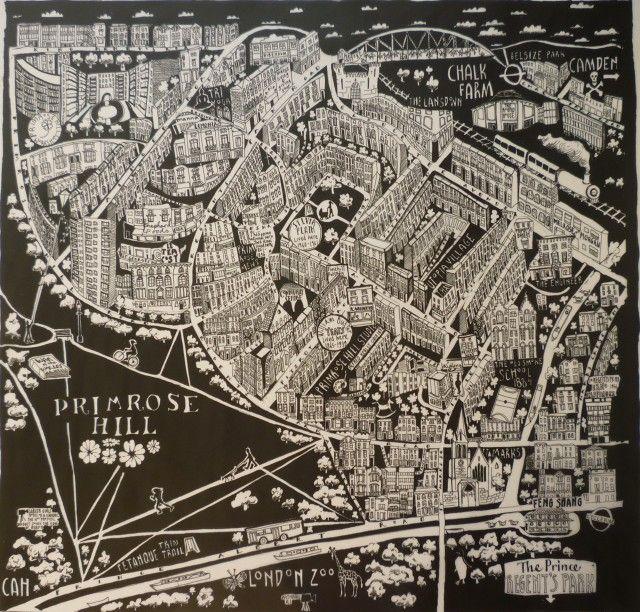 Caroline Harper. Hand-drawn maps | Primrose Hill, London