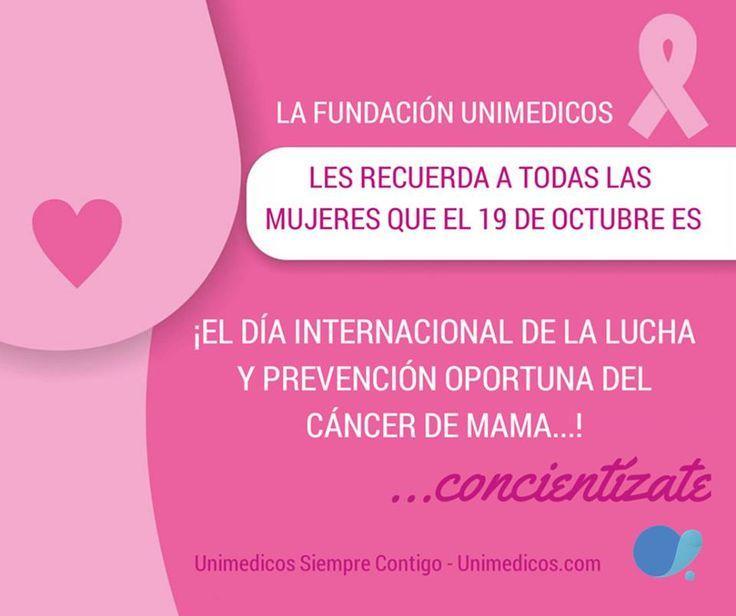En la Fundación Unimédicos nos solidarizamos con las mujeres que están sufriendo la enfermedad de Cáncer de Seno