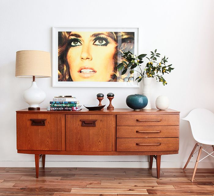 1 Credenza 4 Ways: Bold Mid-Century Contemporary | Style by Emily Henderson