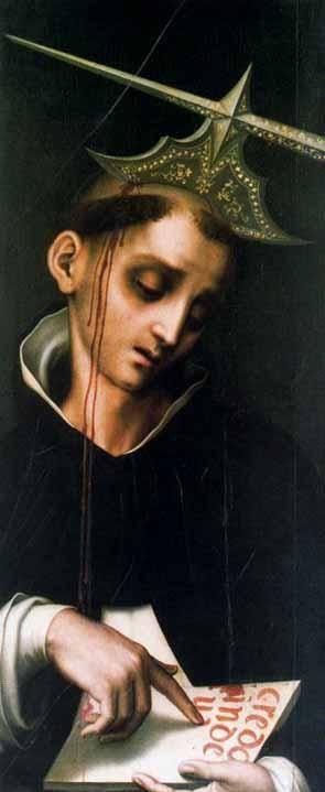 Luis de Morales - SAINT  PIETRO da VERONA, XVI secolo, Collezione Masaveu, Oviedo