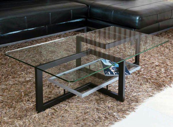 センターテーブル 建築的な美しさ漂うガラス天板のセンターテーブル: 大人のお洒落情報 0107 オシャレカタログ