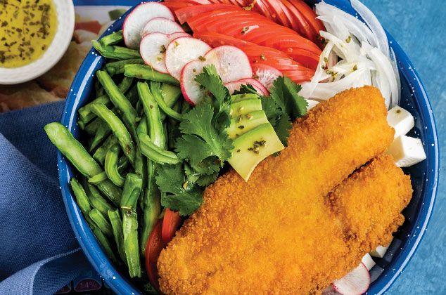 Nada más fresco, rico y llenador que un Filete de pescado empanizado con nopales, aquí te damos la receta, es facilísima de preparar y sobre todo, rápida.   #cuaresma  #pasoapaso  #practico #delicious  #fitness  #fit  #lunch  #comohacer
