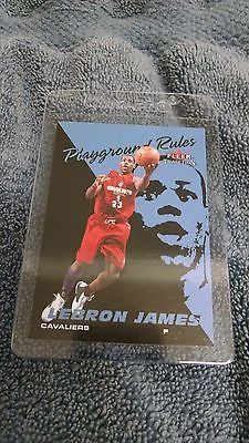 nice Lebron James 2003-04 Fleer Tradition Playground Rules Rookie Card RC! Cleveland! - For Sale