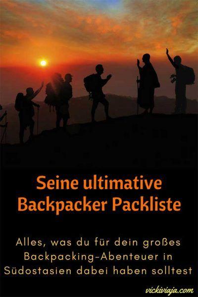 Die ultimative Backpacker Packliste für Männer I Packliste für Südostasien I Rucksackreise I Was muss man für Südostasien dabei haben I #Packliste #Südostasien #Rucksack
