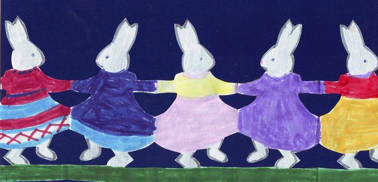 girl bunny rabbits dancing