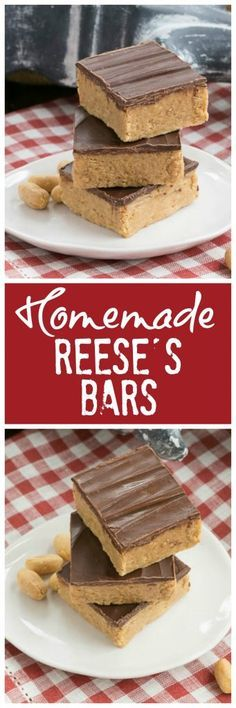 Homemade Reese's Bars | All the magnificent flavors of a Reese's peanut butter cup in a no-bake bar @lizzydo