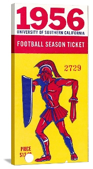 USC football gifts made from authentic vintage USC football tickets. The best football gifts are at http://www.shop.47straightposters.com/1956-USC-Football-Ticket-Art-USC-56.htm