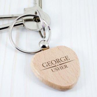 Heritage Wedding Personalised Wooden Keyring