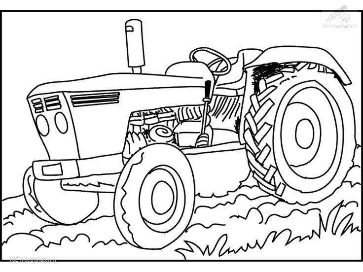 45 besten Kleurplaten tractor Bilder auf Pinterest  The farm Kuh