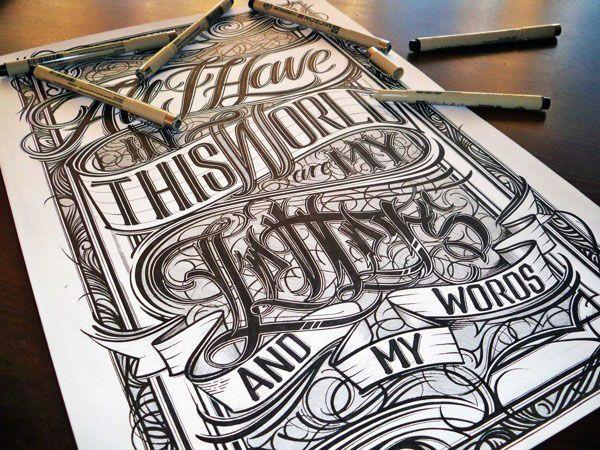 Desain Typography Keren Dari Tulisan Tangan ~ Kreatifv