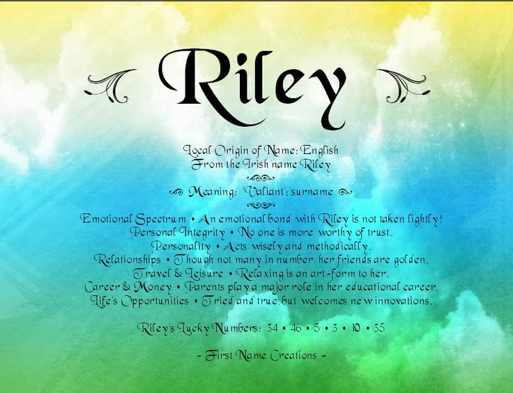 Riley Name Meaning - My brother's name, from first name