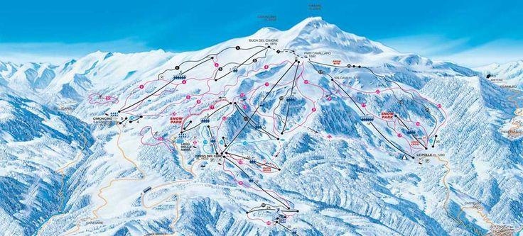 Mappa Piste Monte Cimone