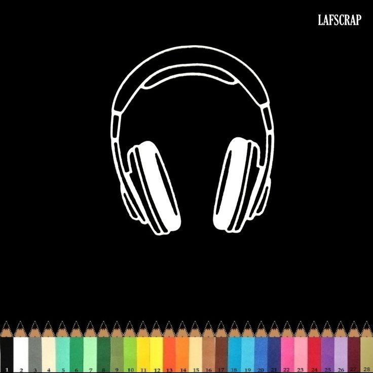 1 découpe scrapbooking scrap audio casque musique