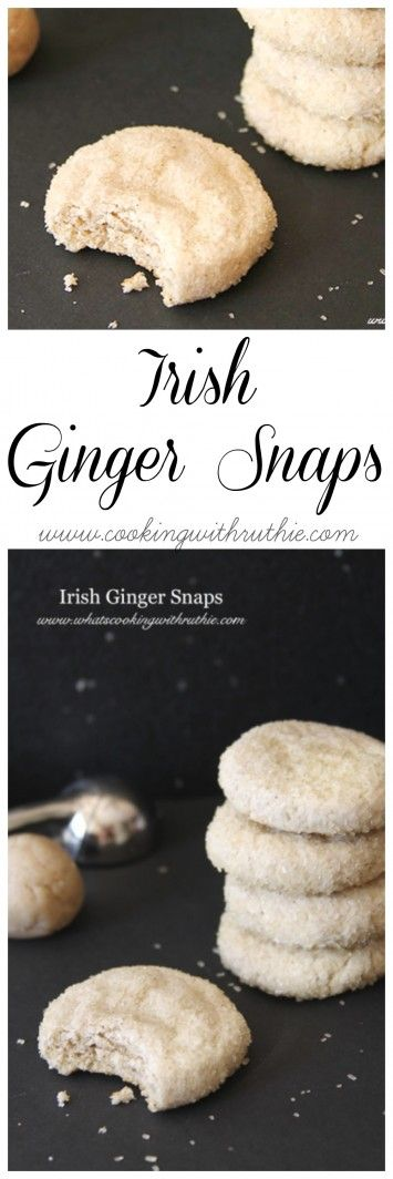 if you love Ginger Snaps then these moist Irish Ginger Snaps on www.cookingwithruthie.com will be a party in your mouth!