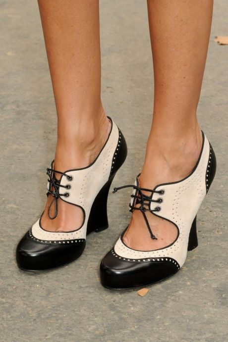 Black and white shoes -- Oxford