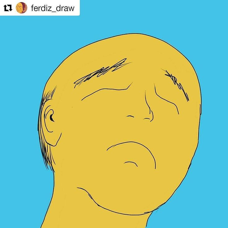 #Repost @ferdiz_draw  Quick sketch of a sad bald man. Made a few nights ago using Sketchbook for Android.