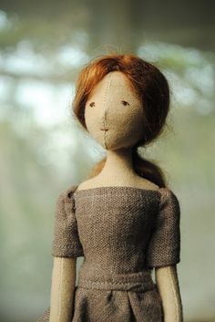 Willowynn cloth doll - grey dress
