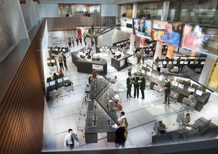 3D Project for Newsroom (Correio da Bahia Newspaper in Brazil)