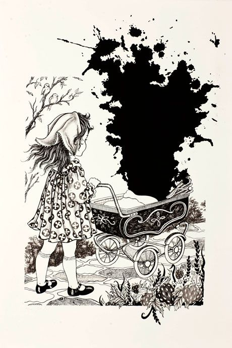 Original print for sale by Julie Nord - Dolls Carring
