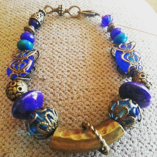 #bohemianbracelet  #bohemianstyle #victorianbracelet  #bohemiangypsy #bluetopaz #bluechalcedony
