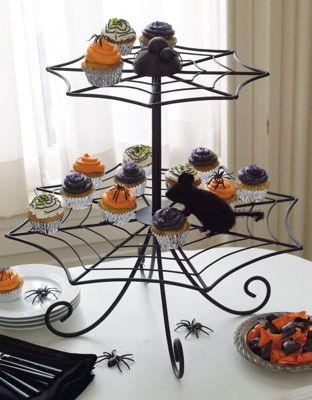 spider web cupcake stand - Halloween Cupcake Holder